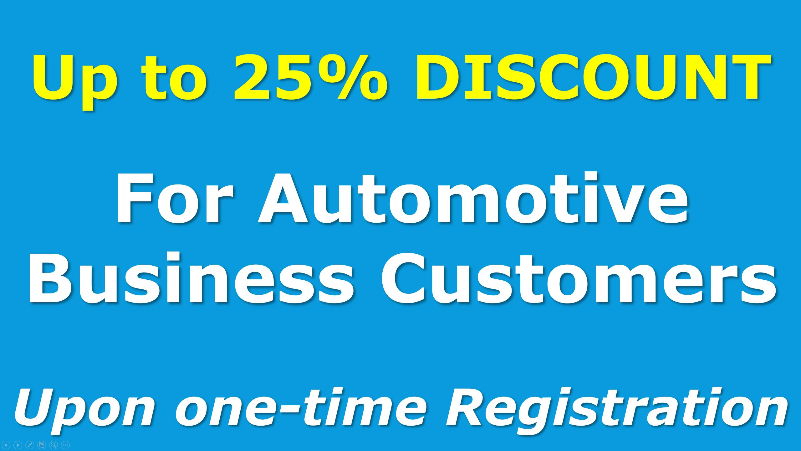 Discount for Automotive B2B